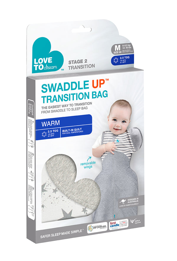 Love To Dream 50/50 Swaddle up transition bag 2.5 tog Winter Warm