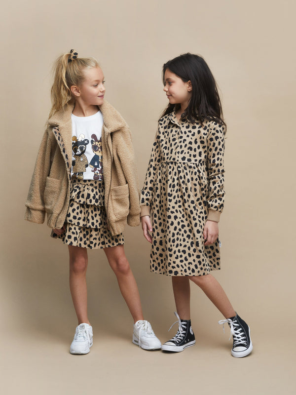 Huxbaby animal spot frilled skirt