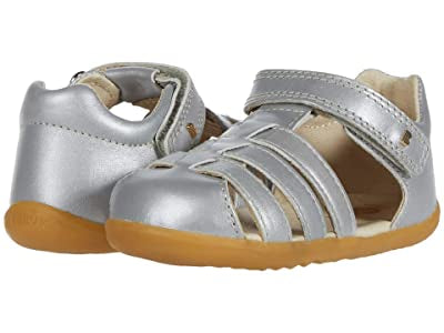 Bobux Step Jump Closed Sandal  in silver