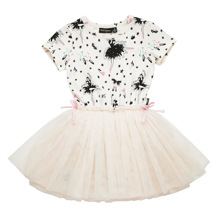 Rock Your Baby Prima Ballerina SS Circus Dress in cream