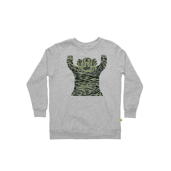 Band of Boys Jumper Easy Tiger Pocket Crew in Grey