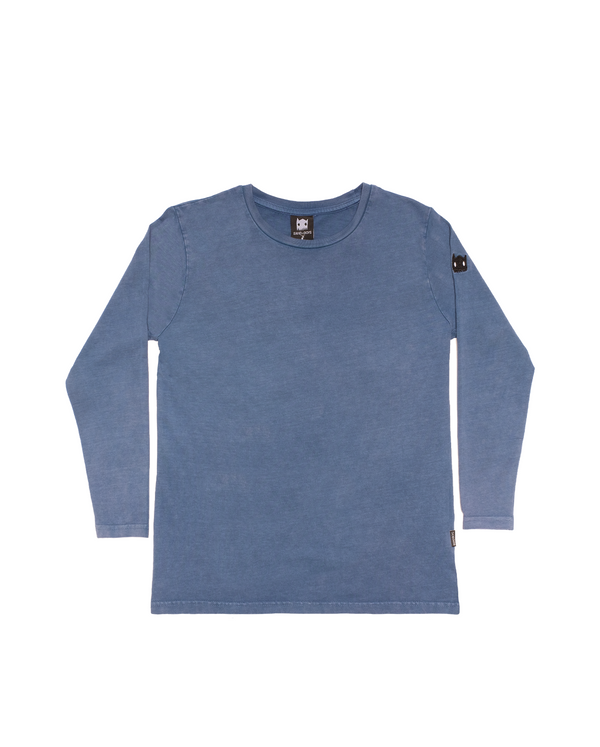 AW20-TEE-04 Band Of Boys Band Of Claws Oversize LS Tee in Vintage Blue Front Design