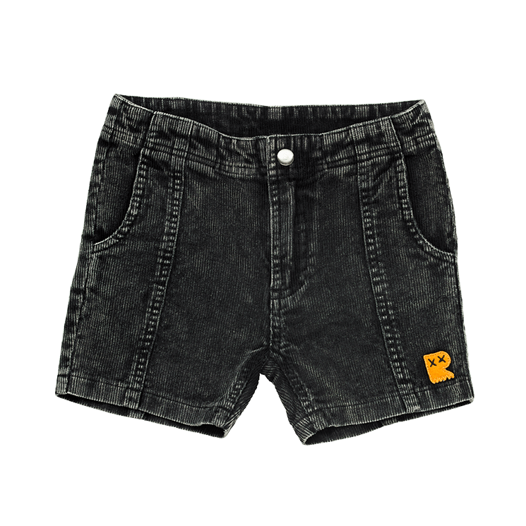 Rock Your Baby Washed Black Corduroy Shorts Washed Black