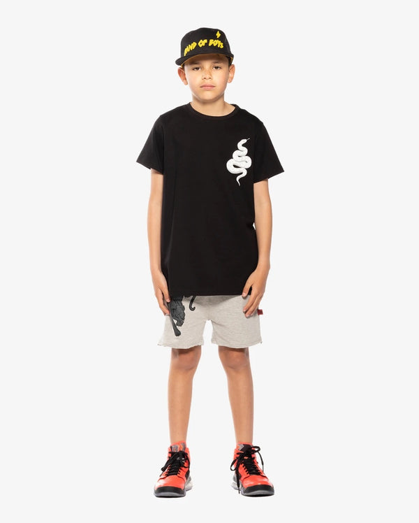 Band of Boys T-shirt  My Anaconda  step hem in Black
