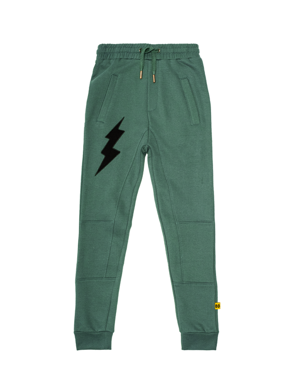 Band of Boys Track pants panel lightning strike in green
