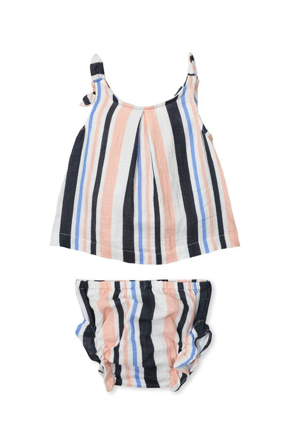 Milky Clothing baby stripe set in multi colour