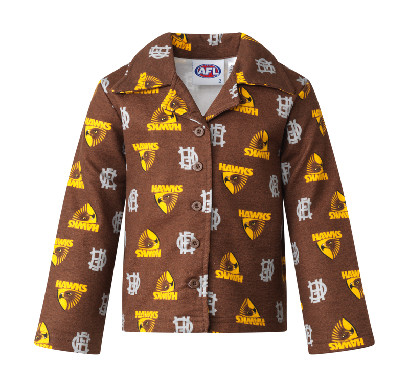Hawthorn Hawks Official AFL Flannelette Toddler Sleepwear