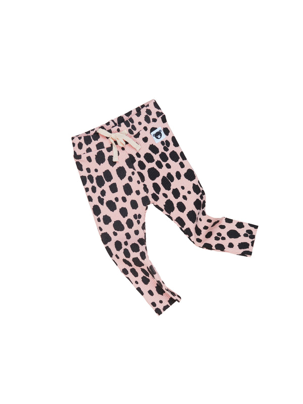 Huxbaby Ocelot Rib Legging bright rose in pink