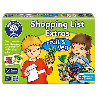 Orchard Games Shopping Lists Extras fruit and veg