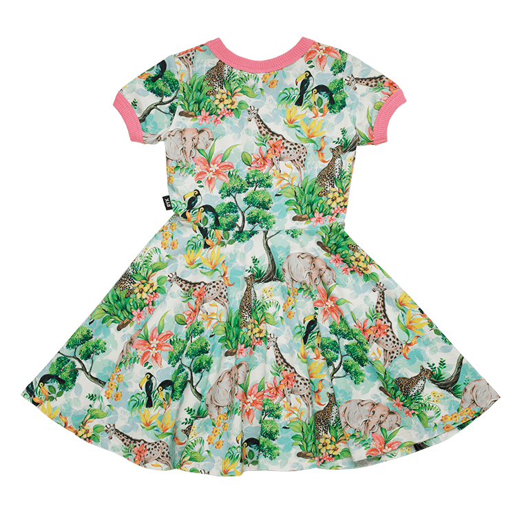 Rock Your Baby Safari Ringer Waisted Dress