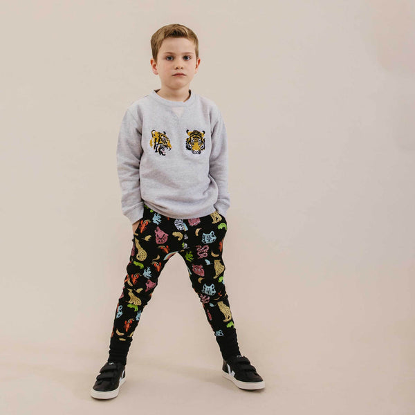 Phoenix and the Fox Austin  Trackpant Animal Kingdom Black