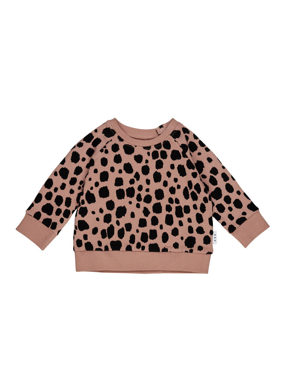 Huxbaby Ocelot Sweatshirt Terracotta in brown