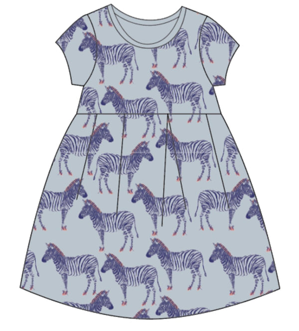 Minti Zebra Ballerina Dress Ballet Cornflower in Blue