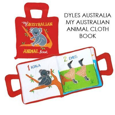 Dyles Australian  Animals Cloth Playbook in red