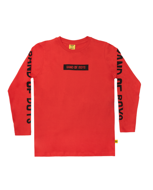 Band of Boys  LS Tee Box red
