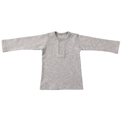 Ponchik Henley long sleeve tee Grey