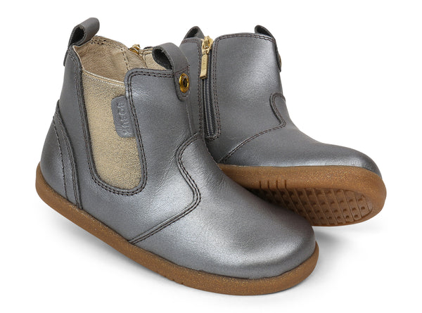 Bobux I-walk & Kid+ Jodhpur Boot Charcoal Shimmer in grey
