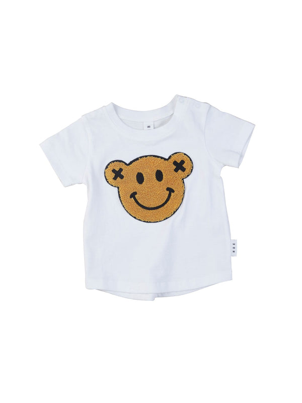 Huxbaby Smiley T-Shirt in white