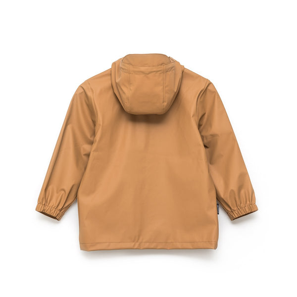 Crywolf Rain Jacket Coat in Tan