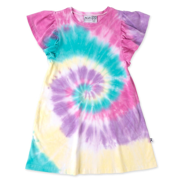 Minti Swirly Dress in Multi Colour
