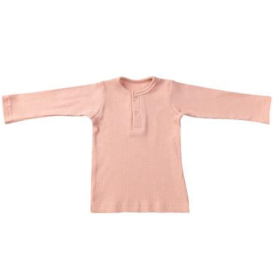 Ponchik Henley long sleeve tee Pink