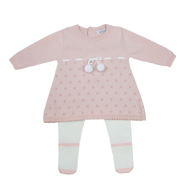 Beanstork Mary Jane Baby Girl Set in pink