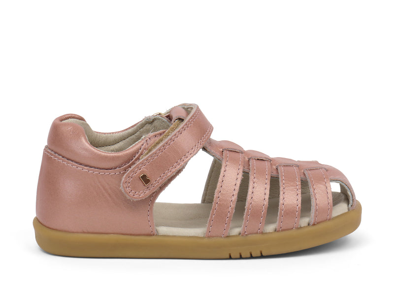 Bobux Step up Jump Sandal rose gold in pink