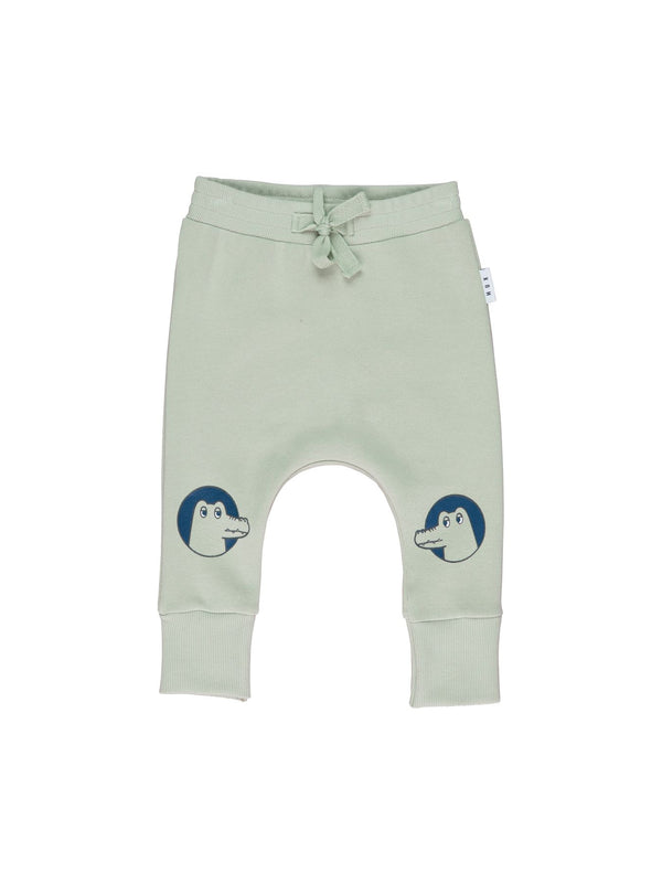 Huxbaby Croc-O-Gator Drop Crotch Trackpant in green