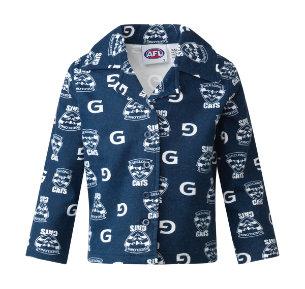 Geelong Cats  Official AFL youth flannelette winter pyjamas