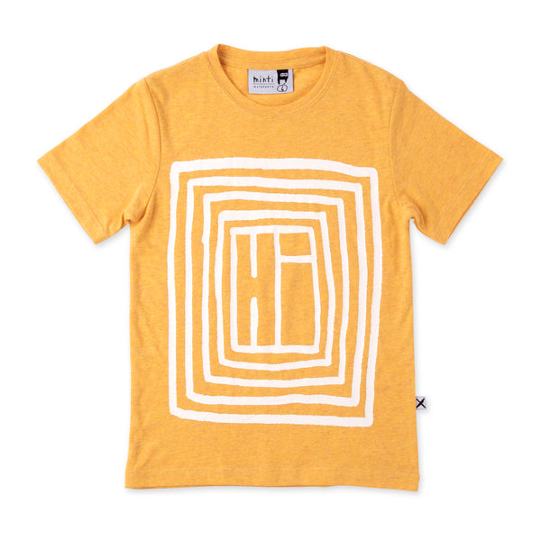 Minti Boxed up Hi T/Shirt mustard in yellow
