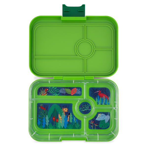 YumBox TAPAS Bento Lunch Box Jungle in Go Green