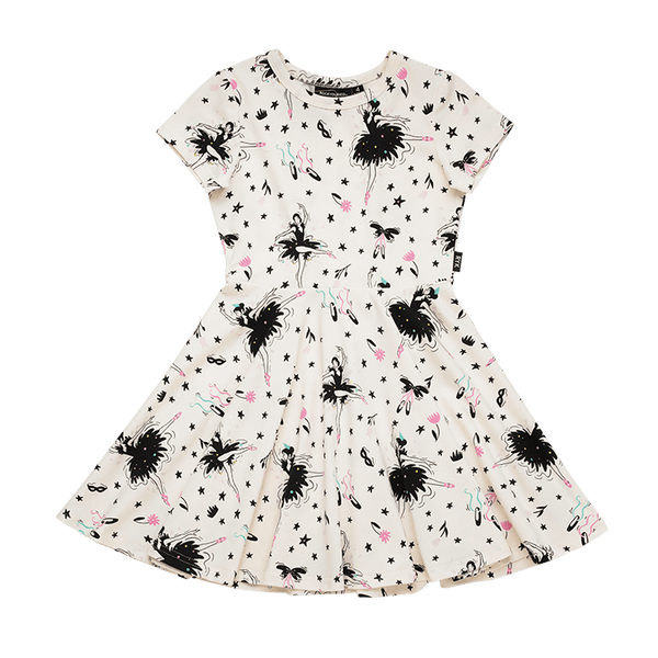 Rock your baby Prima ballerina waisted dress in cream