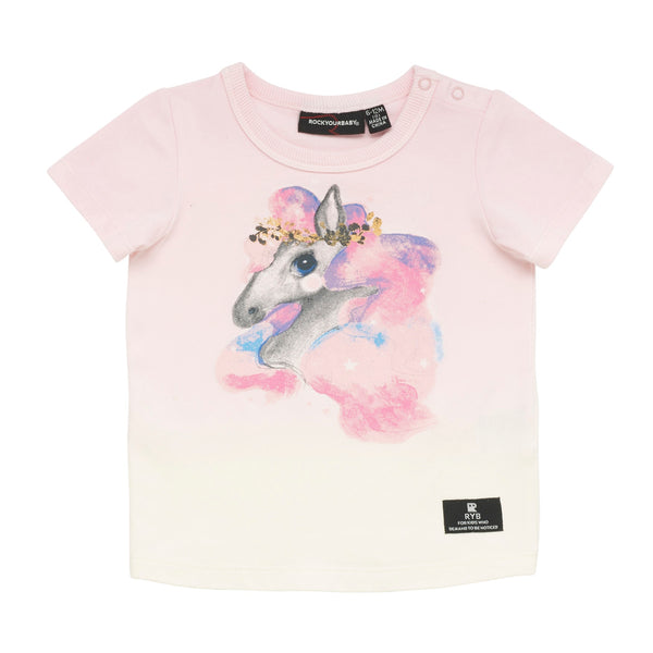 rainbow-brumby--baby-tee-in-cream