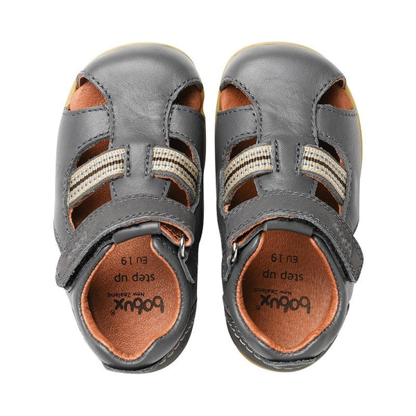 Bobux Intrepid Sandals - Charcoal in grey