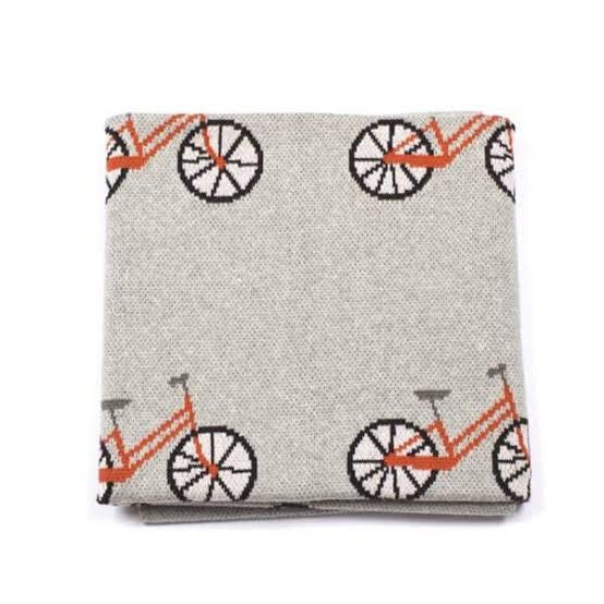 indus-baby-blanket----bicycle-------------in-multi colour print