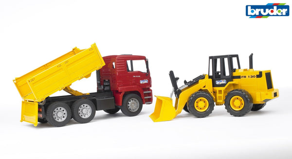br1-16-man-tga-construction-truck-w-articulated-road-loader-in-multi colour print