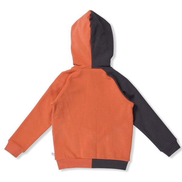 Littlehorn Duo Zip Through - Asphalt/Orange   in orange