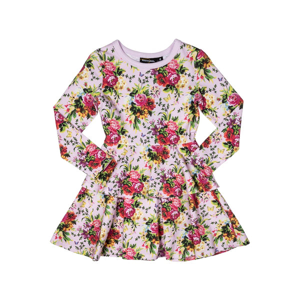 bouquet---waisted-dress-in-multi colour print
