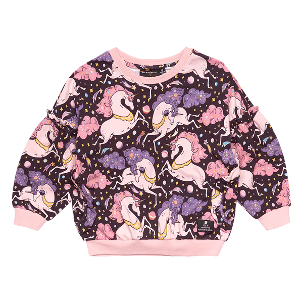 Rock Your Baby Cosmic Unicorn Sweatshirt