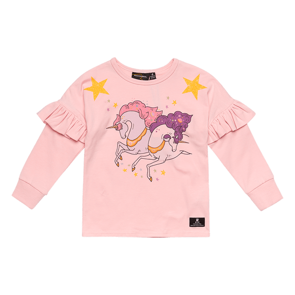 Rock Your Baby Cosmic Unicorn L/S Tee