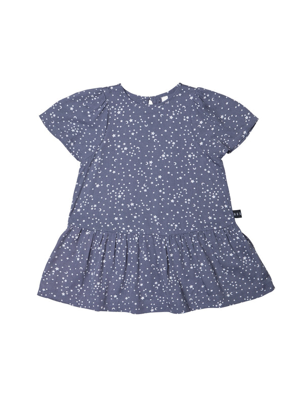 Huxbaby Star Tencel Mia Dress in blue