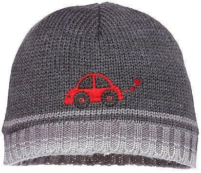 toshi-boy-s-beanie-bizzy---charcoal-in-grey