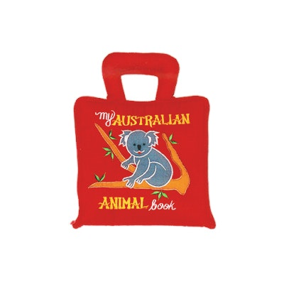 australian--animals-cloth-playbook-in-red