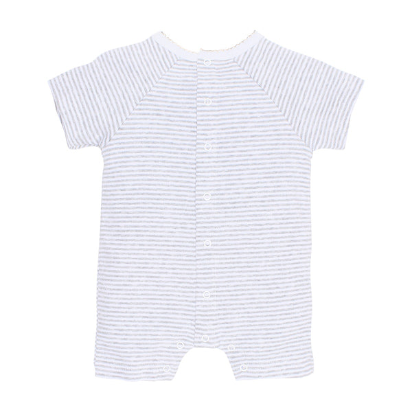 Aust Koala Romper Grey Stripe in grey