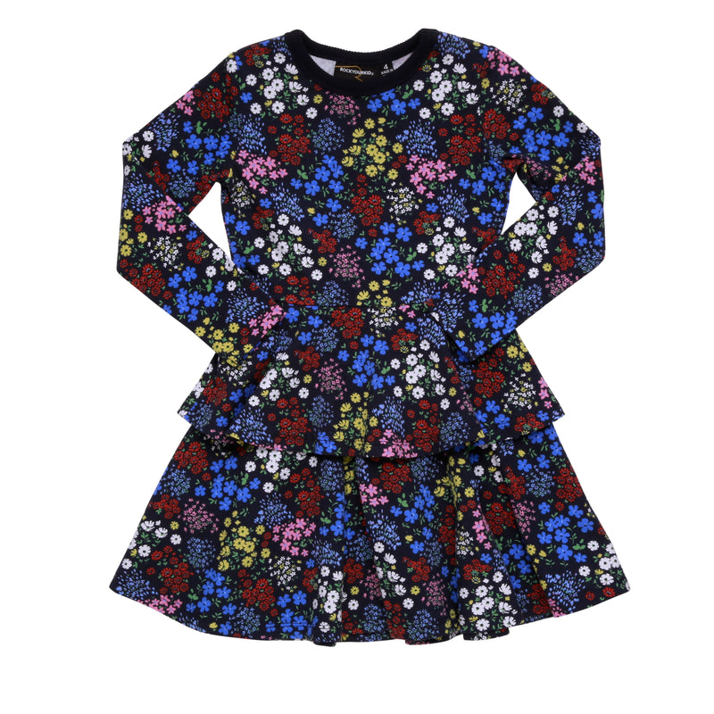 millie-fiori-waisted-dress-in-multi colour print