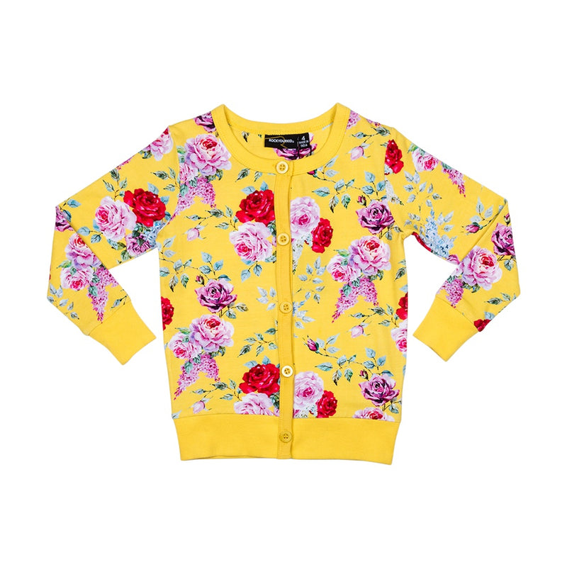 yellow-floral-cardigan-in-multi colour print
