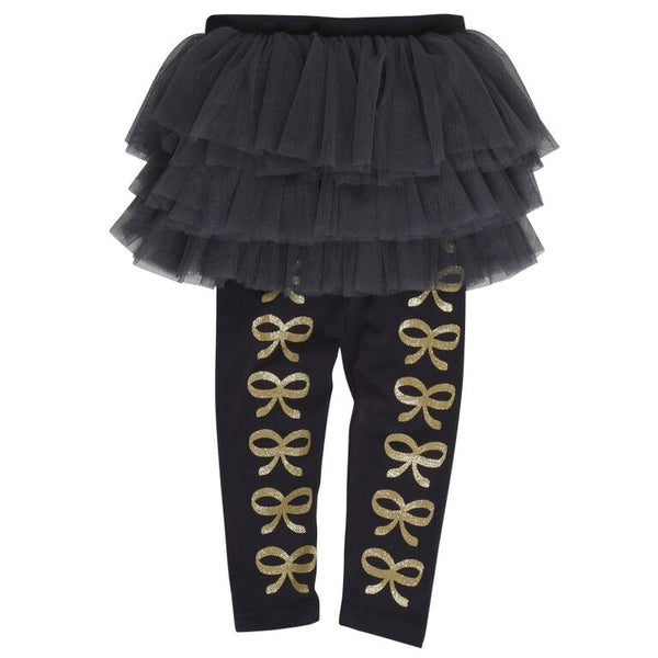 Rock your baby French Bows Circus tights in black