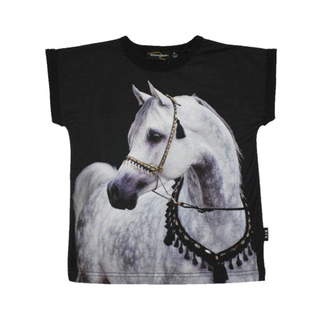 Equine Tee in black