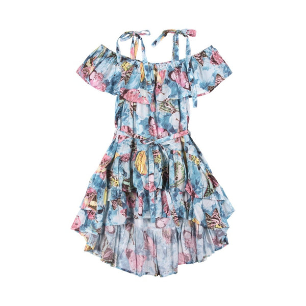 frilled-off-the-shoulder-dress---vintage--butterly-roses-in-multi colour print