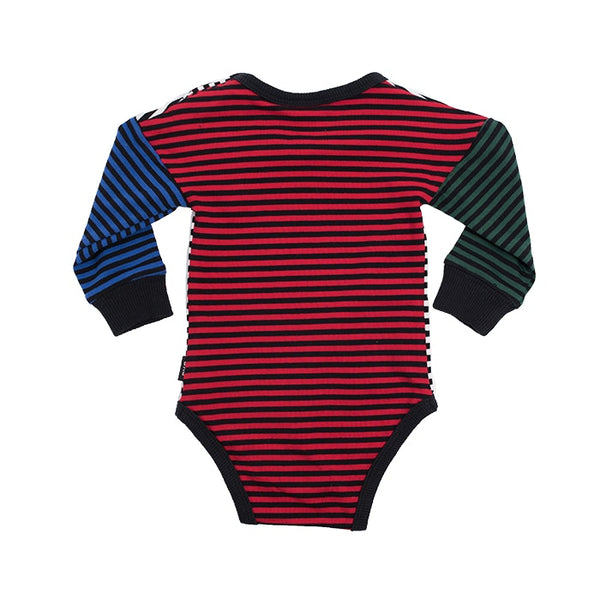Multi Stripe Bodysuit in multi colour print